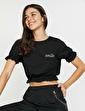 Koton Fırfır Detaylı T-Shirt Siyah